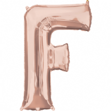 "Rose Gold Letter F Balloon - Rose Gold Letter Balloon (34"")"